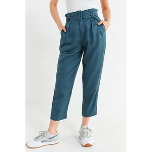 Urban Outfitters Peony Paper bag Pleated Pants